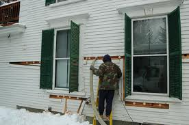 Homeowner diaries cellulose insulation of exterior walls - How to blow insulation into exterior walls ...