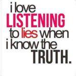 know lies