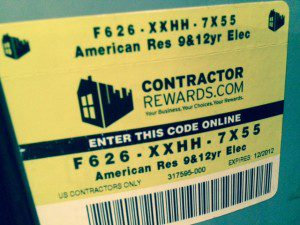 hot water warranty tag