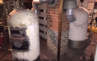 asbestos-covered boilers
