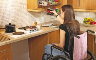 Wheelchair accessible counters
