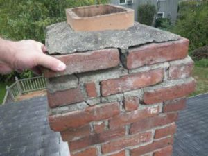 chimney mortar needs pointing